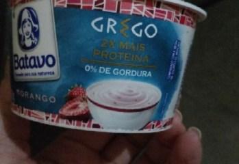 Iogurte Grego Morango Zero Gorduras Batavo