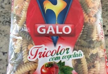 Macarrão Tricolor com Vegetais Parafuso Galo