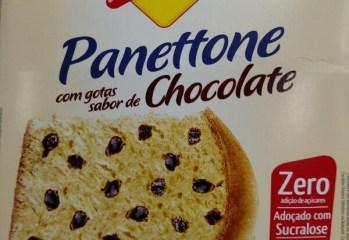 Panettone com Gotas Sabor de Chocolate Lowçucar