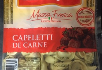 Massa Fresca Capeletti de Carne Massa Leve