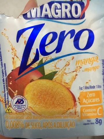 Pó para Bebida Sabor Manga Zero Magro