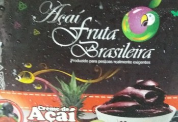 Creme de Açaí com Morango Açaí Fruta Brasileira