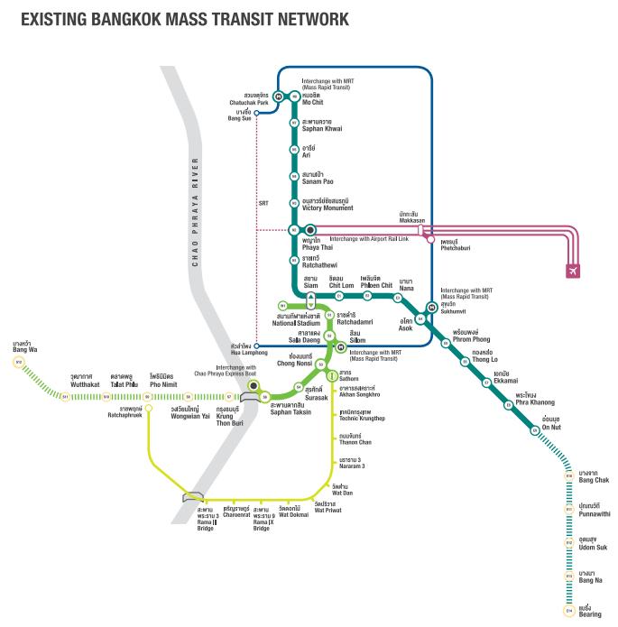バンコクの都市交通網(2014年末)