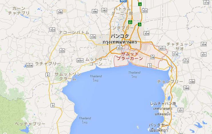 サムットプラカーン県MAP