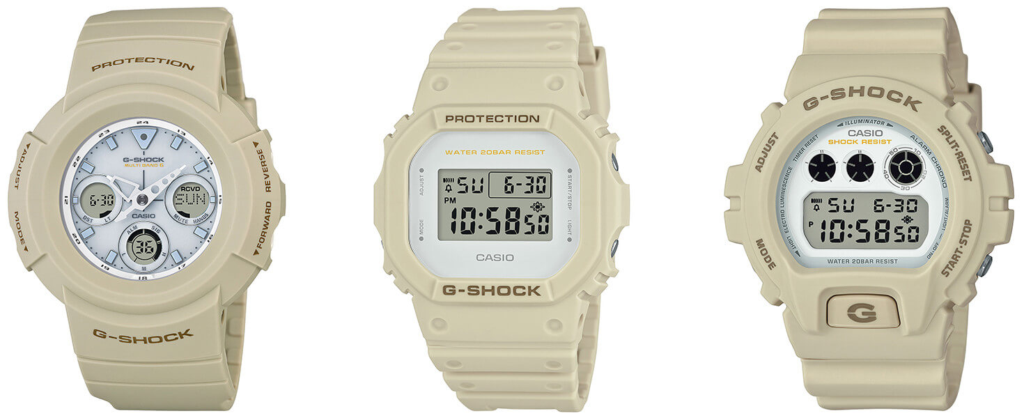 Ew Series G Shock Sand Beige Military Color Ew Series G Central G Shock
