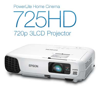 PowerLite Home Cinema 725HD 720p 3LCD Projector