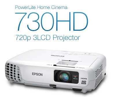 PowerLite Home Cinema 730HD 720p 3LCD Projector