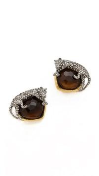 Alexis Bittar Siyabona Panther Clip Earrings | SHOPBOP