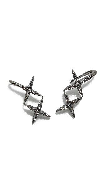 Elizabeth And James Vida Ear Cuff Earrings - Black Ruthenium