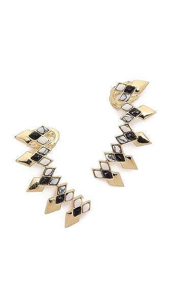 Noir Jewelry Ear Crawlers - Black/White