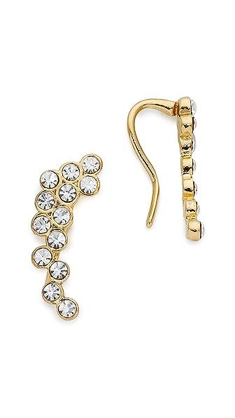 Rebecca Minkoff Crystal Ear Crawlers - Gold/Clear
