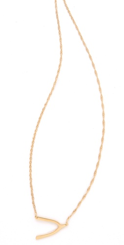 Jennifer Zeuner Mini Wishbone Necklace