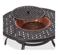 Amazon.com: Strathwood Whidbey Cast-Aluminum Fire Pit with ...