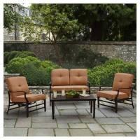Amazon.com: Strathwood Whidbey Cast-Aluminum Deep-Seating ...