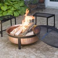 100% Real Copper Fire Pit Cover Screen Deep Larger Longer ...