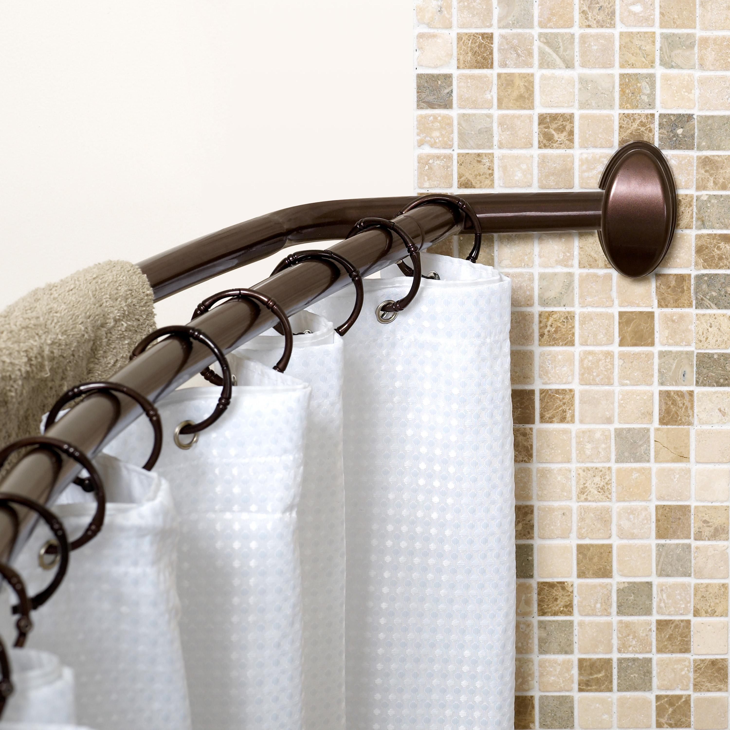 Oil Rubbed Bronze Double Shower Curtain Rod Amazon Zenna Home E35604hb Neverrust Aluminum