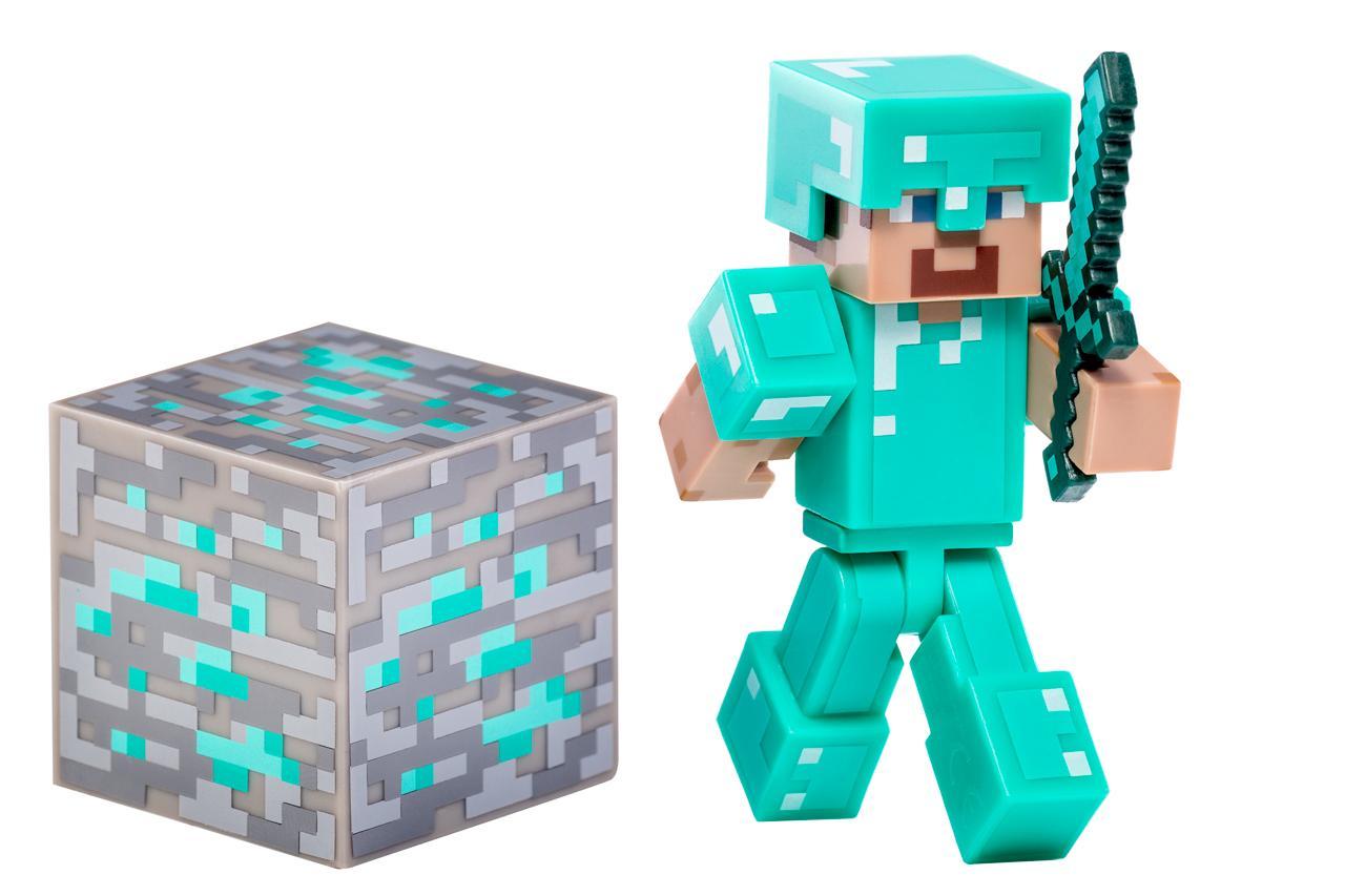 NEW Minecraft Steve Diamond Armor Flexible Feirce & Fight