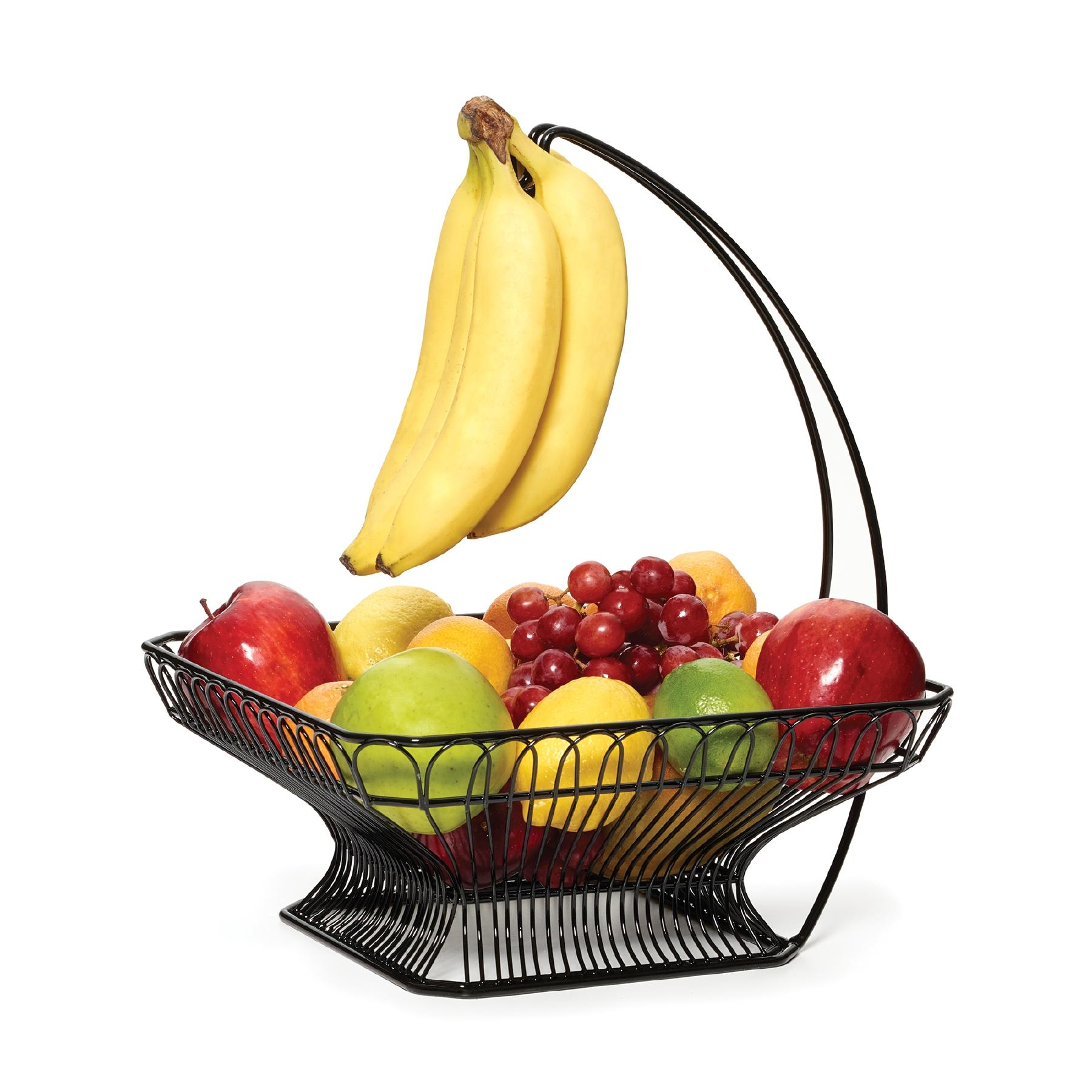 Fruit Bowl For Counter Amazon Gourmet Basics By Mikasa 3 Tier Metal Market