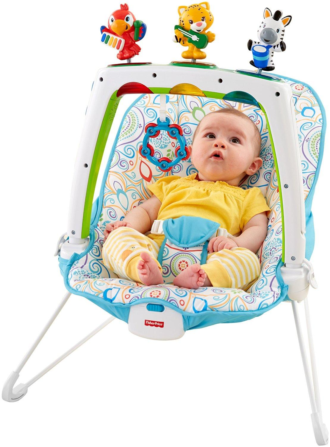 Bouncer Baby Amazon Fisher Price Musical Friends Bouncer Baby