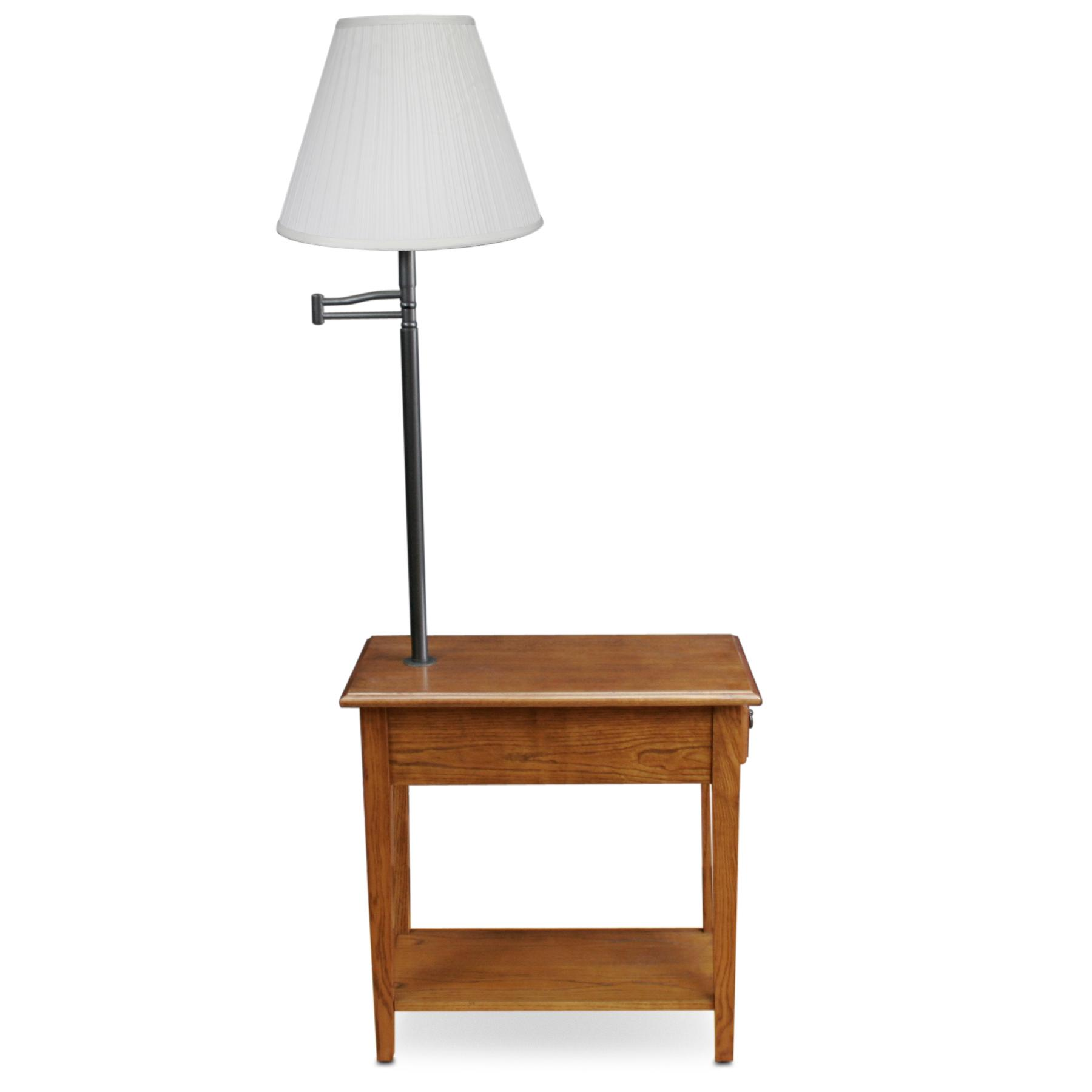Oak Side Table With Drawer Amazon Leick Chair Side Lamp End Table With Drawer