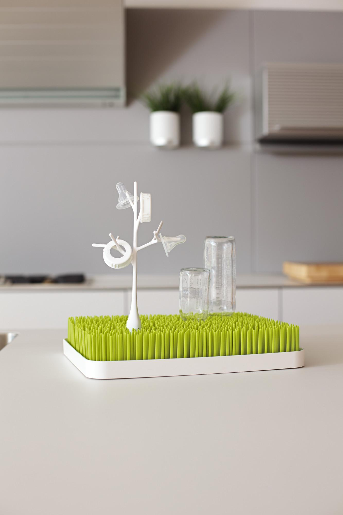 Boon Grass Countertop Drying Rack Green View Larger