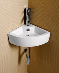 Elite Sinks EC9808 Porcelain Wall-Mounted Corner Sink ...