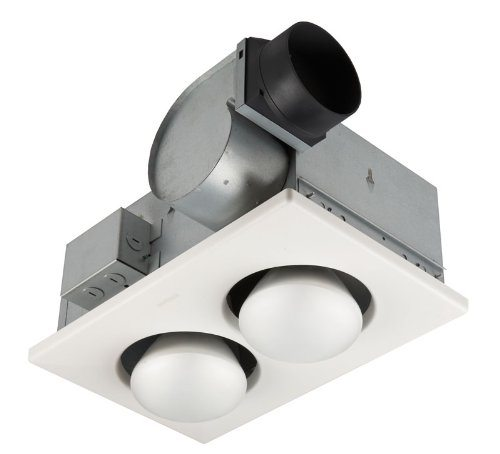 Broan 164 2 bulb ventilation heater bath fan with lights
