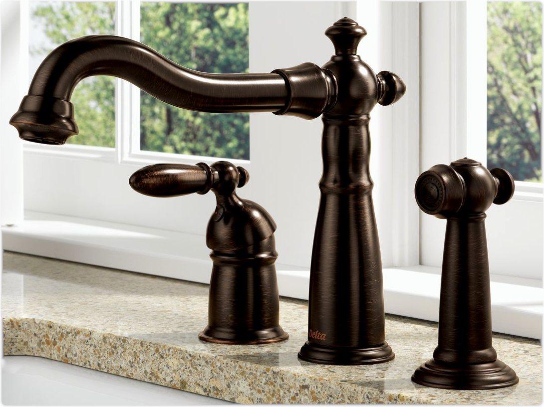 Delta 155 rb dst victorian single handle kitchen faucet