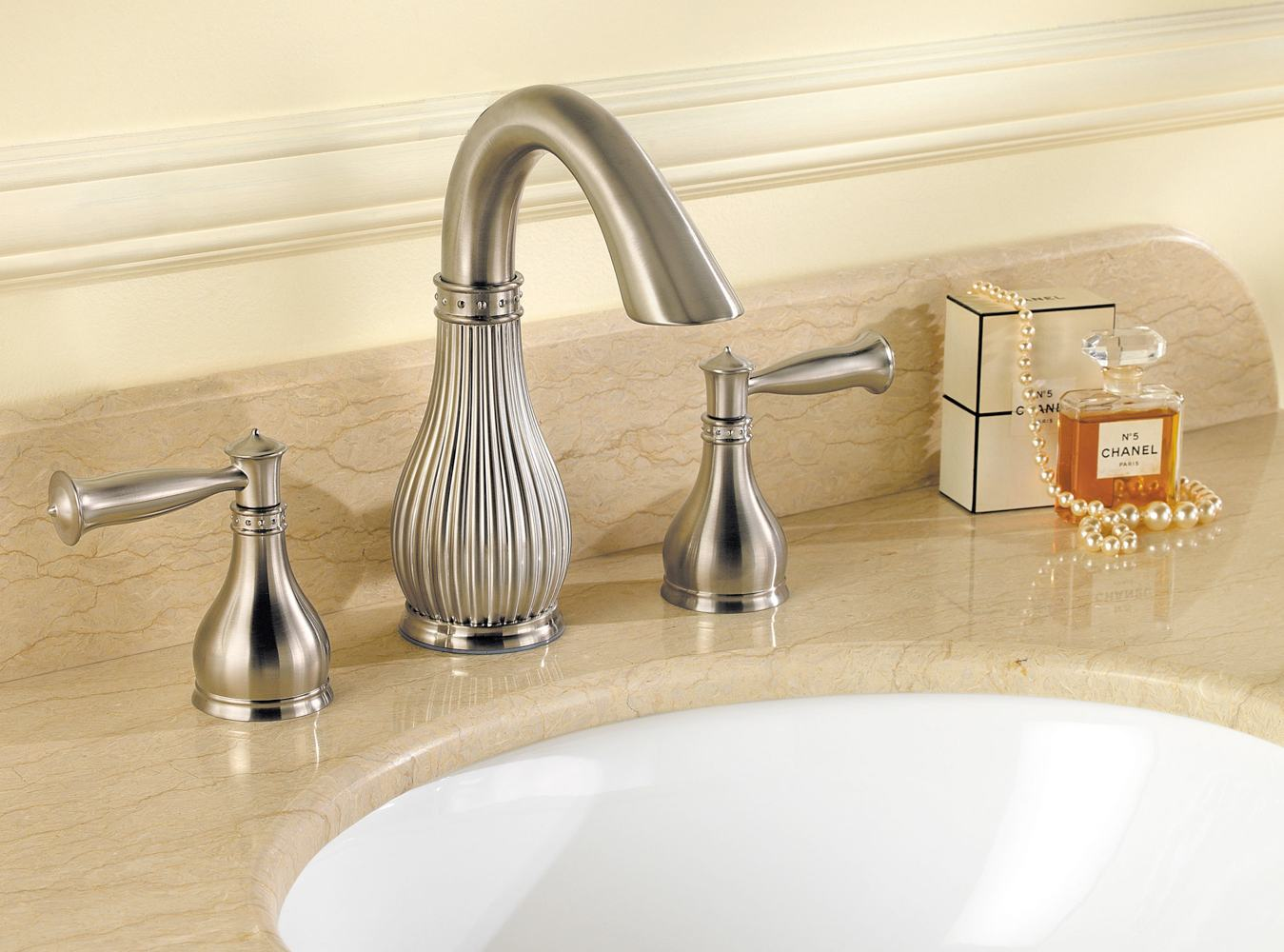 Brushed Nickel Bathroom Faucets Clearance Pfister Virtue 2 Handle 8 Quot Widespread Bathroom Faucet