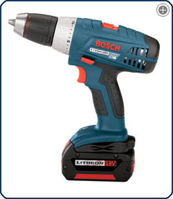 Bosch 36618 02 18 Volt 1/2 Inch Compact Tough Litheon Drill/Driver with 2 Slim Batteries