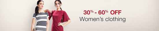 Women's clothing 30% - 60% off