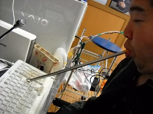 マウススティックでパソコン操作