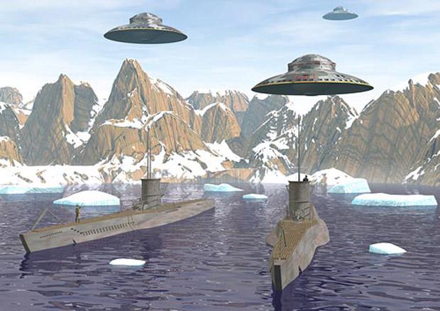 Image result for fotos ovnis alemanes en el antartico