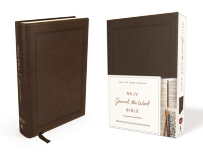 NKJV Journal the Word Bible, Bonded Leather, Brown, Red Letter