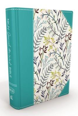 NKJV Journal the Word Bible, Large Print, Hardcover, Blue Floral
