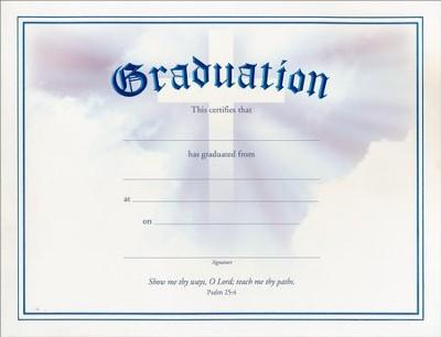 Graduation Certificates (Psalm 254), 6 - Christianbook - graduation certificate