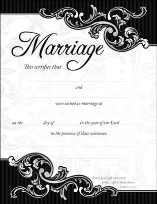 Marriage Certificate/Scroll Border (James 117) 6 - Christianbook