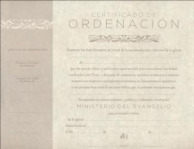 Certificado de Ordenación, Paquete de 6 (Minister\u0027s Ordination