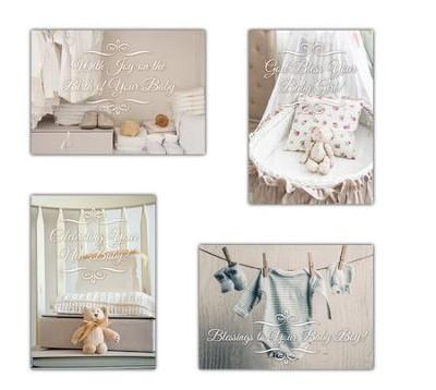 Precious Blessings (KJV) Box of 12 Baby Congratulation Cards