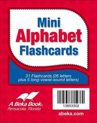 Abeka K4-K5 Miniature Alphabet Flashcards (31 cards) - Christianbook