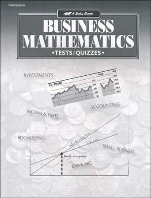 Abeka Business Mathematics Tests, Quizzes  Speed Drills - business math