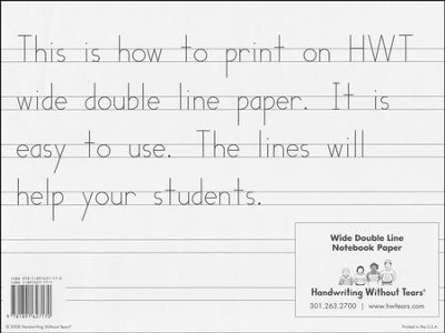 Wide Notebook Paper (500 Sheets; Grades K-1) 9781891627170