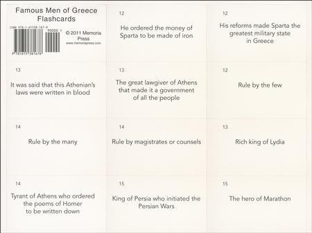 Famous Men of Greece Flashcards John H Haaren, Addison B Poland
