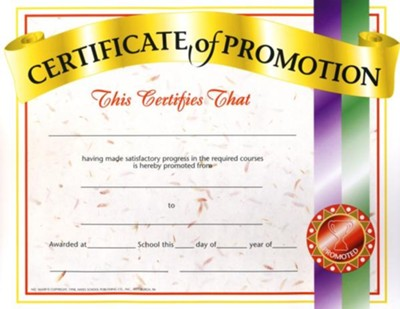 Certificate of Promotion (Pack of 30) - Christianbook