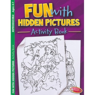 Bible hidden pictures activity book