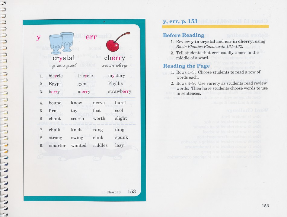 Abeka Handbook for Reading Phonics Textbook Teacher Edition - new how to read contraction chart