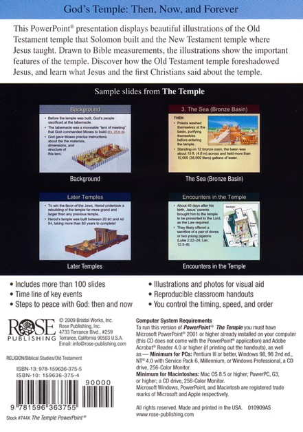 The Temple PowerPoint CD-ROM 9781596363755 - Christianbook