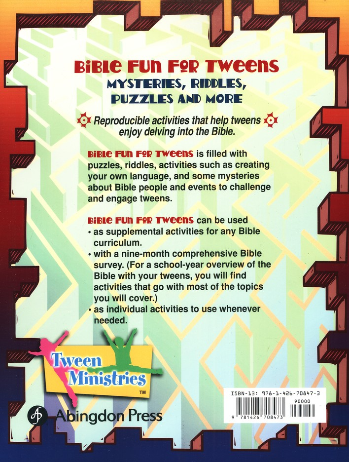 Bible Fun for Tweens Mysteries, Riddles, and More Marcia Stoner