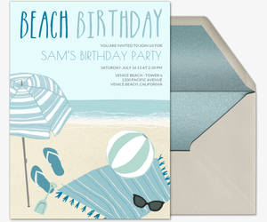 Free Online Beach Party Invitations Evite