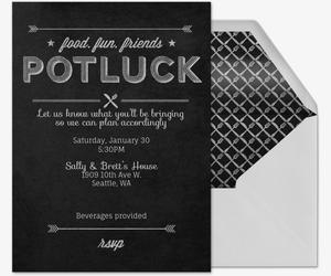 Free Potluck Invitations Evite